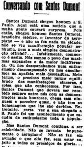 conversando com Santos Dumont